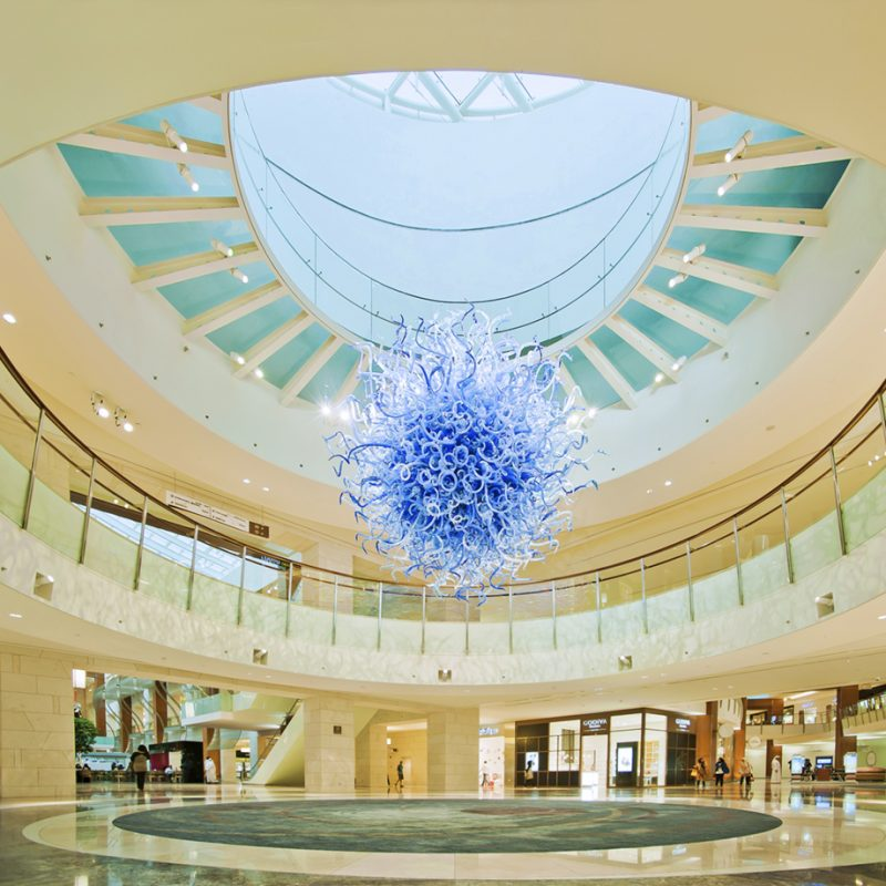 Architectural Photography Project 360 Mall Kuwait Clients Callisonrtkl Tamdeen Interior Star Court Blue Star Curves Floor Pattern Shops People DSC4876