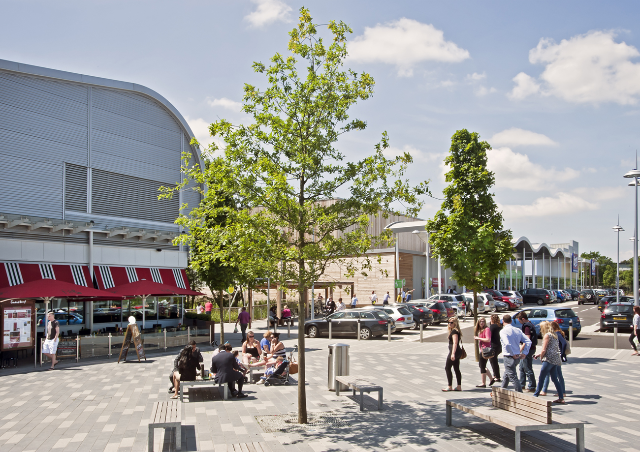 Architectural Photography Abbey Wood Shopping Park Client Haskoll External Public Space Trees Restuarant People MJD9904.jpg