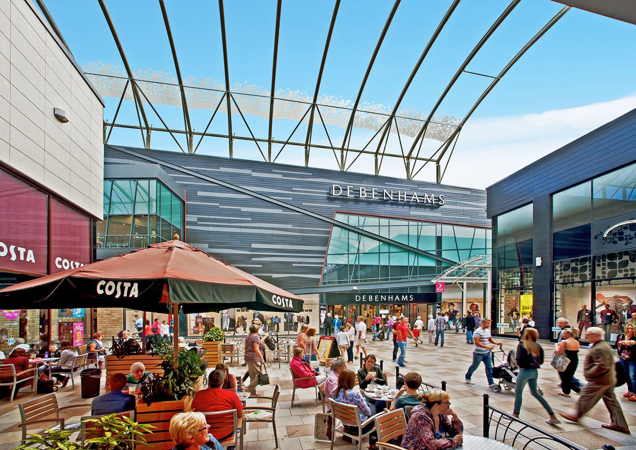 Architectural Photography Project Trinity Walk Shopping Centre Wakefield Client Halogen Ltd Interior Umbrella Coffee Shop People Seating Roof DSC9320.jpg