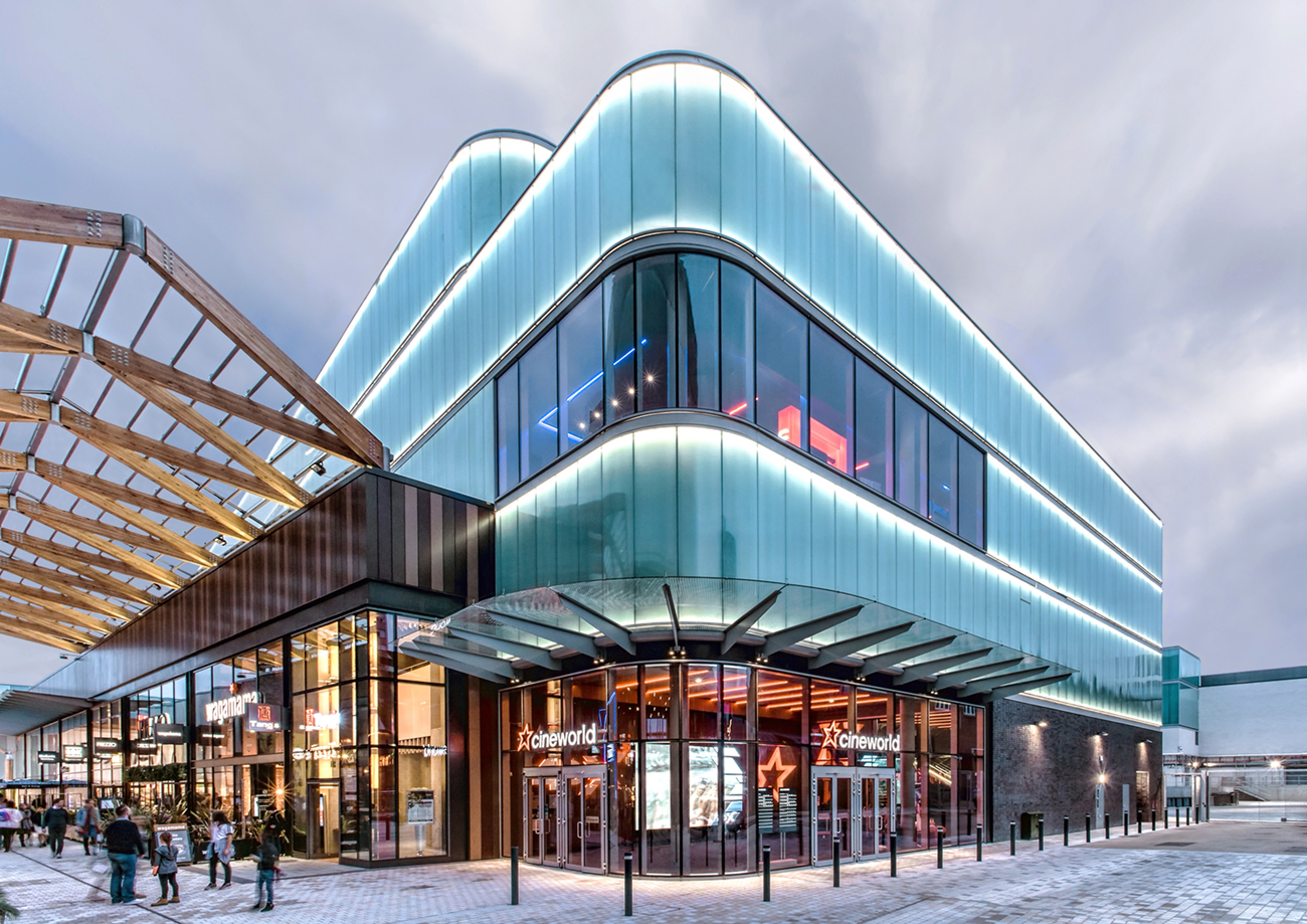 Architectural Photography Project Cineworld Exteriors The Lexicon Bracknell Client Everlite Concept Aspect Full Facades Entrance Twilight Ref G.jpg